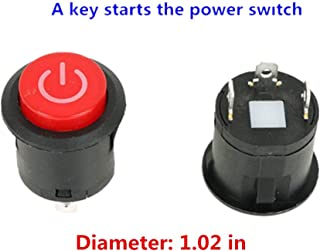 WEELYE A Key Starts The Power Switch Button Start Switch Accessory for Kids Powered Wheel Cars Children Electric Ride on Toys Replacement Parts