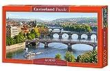 Castorland Vltava Bridges in Prague 4000 pcs Puzzle - Rompecabezas (Puzzle Rompecabezas, Ciudad, Niños y Adultos, Niño/niña, 9 año(s), Interior)