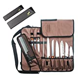 Chef Knife Roll Bag (14 Slots) | Knife Bag Holds 10 Knives, 1 Meat...