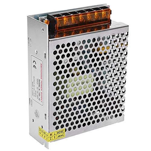 Controlador de fuente de alimentación de interruptor LED DC12V, Adaptador de fuente de alimentación de conmutación de pantalla de aleación de aluminio((12V / 8.5A / 100W) AC100‑240V)