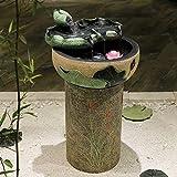 Cenicero De Puros, Decoración de agua creativo de la sala de oficina acuario de escritorio de interior del piso agua de humidificación, sueño Base de Lotus (alta), Color: Sueño de Lotus del atomizador