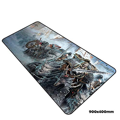 IGZNB Tapis De Souris De Jeu De Vitesse De Warhammer |900 X 400Mm |XXL Mousepad |Base De Table Grande Taille |Précision Et Vitesse Parfaites, F