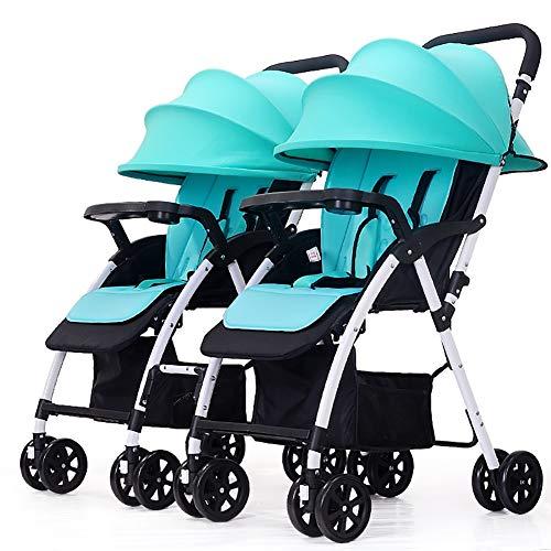 TY-Baby trolley Mmm @ Poussette jumeau, Chariot de bébé Pliable léger détachable de Double Chariot Infantile Chariot ( Color : Bleu )