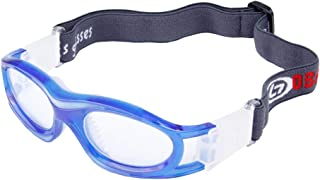 ROLLBERTO Unisex Kids Sport Glasses Anti-Fog Protective Safety Goggles Adjustable Strap for Basketball Rugby Soccer