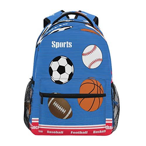 Bolsa de deporte de bolas casual mochila escolar bolsa de ordenador de viaje senderismo camping mochila para niñas niños hombres y mujeres