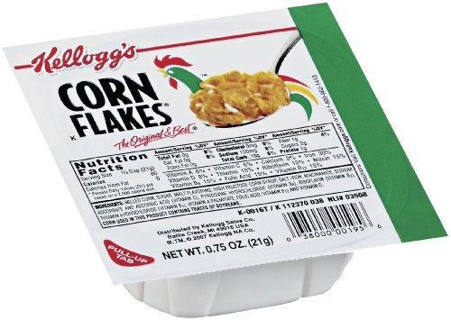 Corn Flakes Cereal, 0.75-Ounce Bowls (Pack of 96)