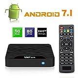 Android 7.1 Smart TV Box - SEEKOOL Modèle C Boîtier TV avec 1Go DDR3 8Go EMMC, 4K Ultra HD, Quad...