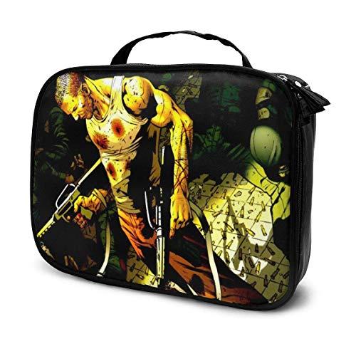 Bolsa de maquillaje de soldado de invierno para viajes, bolsas de aseo grandes, para mujeres y niñas de 7.4 x 9.8 pulgadas