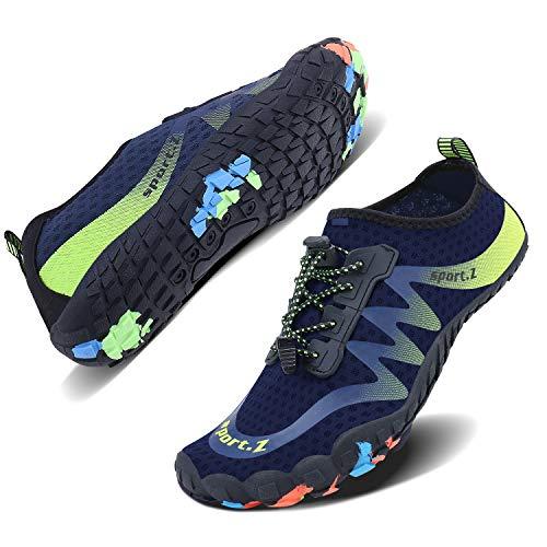 WXDZ Summer Water Shoes Men Women Quick Drying Swim Surf Beach Pool Shoes Wide Toe Hiking Aqua Shoes