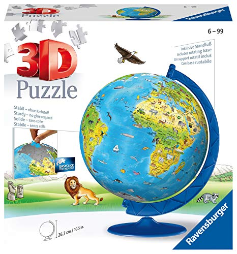 Ravensburger Children's World Globe 180 piece 3D Jigsaw Puzzle for Kids age 6 years and up