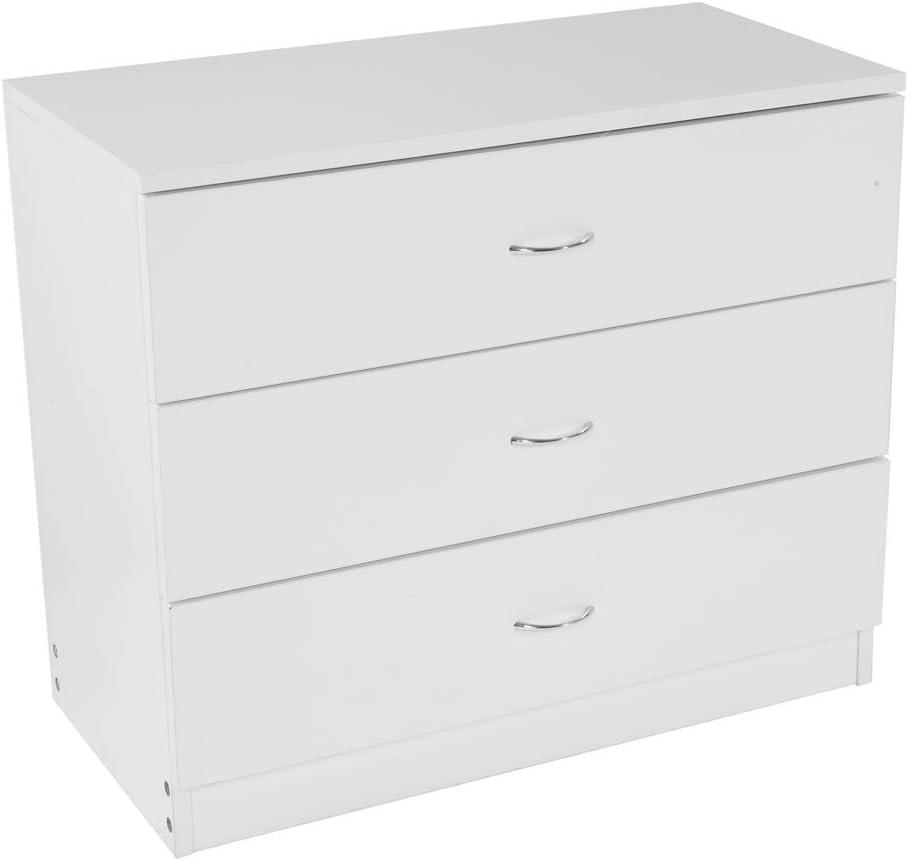 White 日本最大級の品揃え Dresser 3 Drawer Chest Storage Cabinet 25%OFF Nigh Wooden