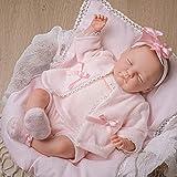 JC Toys 01002 Berenguer Classics Édition limitée « Babylin » Poupée bébé né de 46 cm Rose