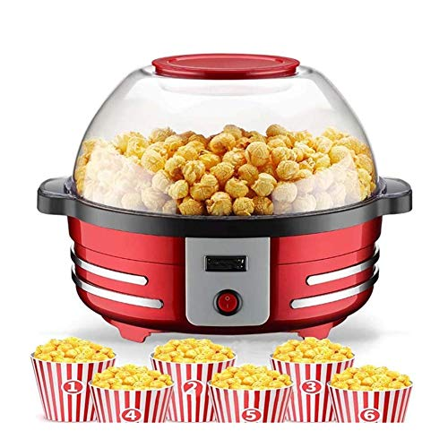 Cheapest Prices! IhDFR 850W Popcorn Machine - Electric Popcorn Maker, Short War-Up Time & Popcorn Yi...