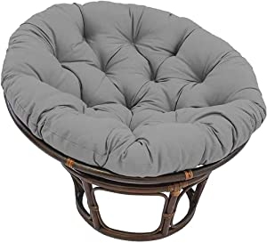 Chair Cushion Outdoor Floor Cushions, Without Chair/Round Hanging Egg Swing Removable Cover/Indoor Courtyard Garden /Thicken Seat Pad Waterproof Papasan 40x40cm(15.7x15.7in) (Gray)