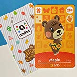 No.294 Maple Animal Villager Cards Series 3 for ACNH. Third Party NFC Card. Water Resistant