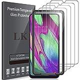 LK 4 Stück Schutzfolie Kompatibel mit Samsung Galaxy A40 Panzerglas, HD Klar Bildschirmschutzfolie, Kratzen Blasenfrei 2.5D Rand Einfacher Montage