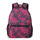 LNLN Mochila Casual para niñas Summer Palms Trees Vacation of Hawaii Laptop Backpack School Backpack for Men Women Lightweight Travel Casual Durable Daily Daypack College Student Rucksack 11 5in X