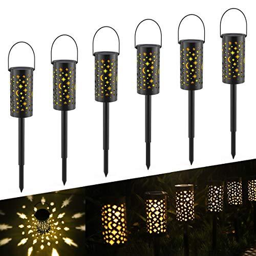 Luci Giardino Solare,Tomshine 6Pcs Lampada Solare Impermeabile Esterno Giardino Decorative Illuminazione Solare per Cortile Terrazzo Villa Vialetti Vacanza Natale