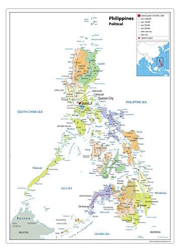 Landkarte Philippinen, politische Karte, Papier, laminiert A0