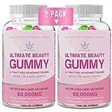 2 PACK Gominolas de Vitamina para el Cabello,15,000 mcg de G