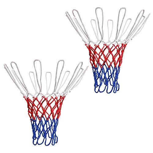 Migimi 2 reti da basket per canestro da basket, rete di ricambio per canestro da basket, rete di canestro stampata a grasso, durevole e tutte le condizioni atmosferiche, per interni o esterni