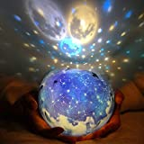 LED Night Light Starry Sky Magic Star Moon Planet Projector Lamp...