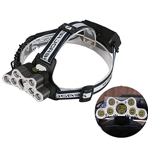 Linterna frontal de 9 LED,linterna de cabeza impermeable,súper brillante,5000 lúmenes,recargable por USB,6 modos de iluminación para correr,caminar,acampar,leer,ir de excursión
