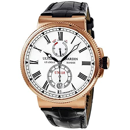 Ulysse Nardin Marine Chronometer Manufacture Automatic 18 kt Rose Gold Mens Watch 1186-122-40