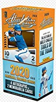 2020 Panini Absolute Baseball box (two 10-card pks/bx = 20 cards total incl. FOUR Autograph & TWO Memorabilia cards)