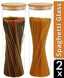 Bocaux en Verre pour Spaghetti, Pates - Hermetique avec Couvercle - Lavable en Machine