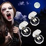 BIESVOY Dientes de Vampiro de Disfraz Colmillos de 3 Tamaños de Diente para Accesorios de Fiesta de Disfraz Favores de Fiesta de Halloween