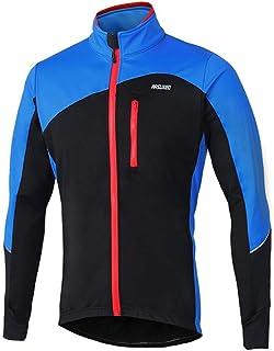 para bicicleta de monta/ña reflectante chaqueta con forro polar c/álido para oto/ño talla S hasta XXL Chaqueta para hombre resistente al viento iCreat