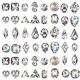 JuanYa - 48 piezas de diamantes de imitación de cristal para decoración de uñas en 3D