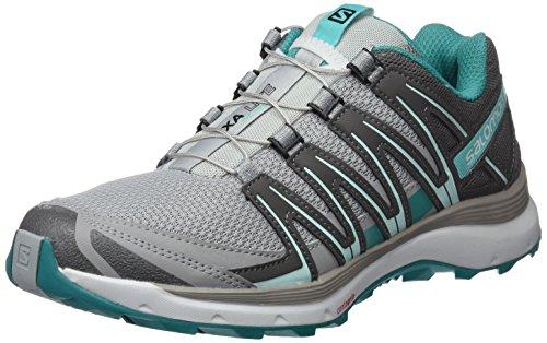 Salomon XA Lite, Calzado de Trail Running para Mujer, Gris (Quarry/Quiet Shade/Deep Peacock Blue), 40 2/3 EU