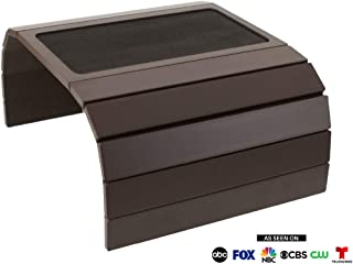Bandeja de MDF plegable y portátil para sofá o sillón. Mesa para colocar en brazo para sofá. Ideal para bebidas, mando a distancia o teléfonos móviles.