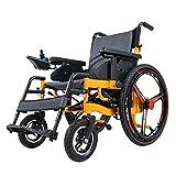 Silla de Ruedas Eléctrica Plegable, Deluxe Scooter Eléctrica Ligera, con Batería de Litio de 12Ah, Prim Ancho de Asiento 50 cm, para Personas Mayores y discapacitadas