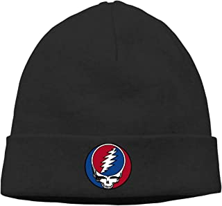 DuncaMontgo Winter Warm Beanie Hats Grateful-Dead-Album-Steal-Your-Face Slouchy Beanie for Men and Women