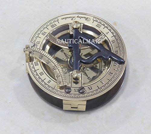 Nauticalmart Sonnenuhr-Kompass, Messing, 5,1 cm