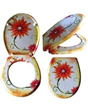 Toiletbril Flower Power toiletdeksel wc-deksel wc-bril met softclosemechanisme