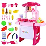 WEHOLY Toy Children 's Toy Girl Utensilios de Cocina Juego de vajilla Juguetes de Cocina Niños Jugar a la Cocina con Juego de Cocina Realista Juegos de Cocina de Juguete Juego de Cocina