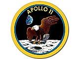 American Vinyl ROUND Apollo 11 Nasa Mission Seal Sticker (logo decal eleven space)
