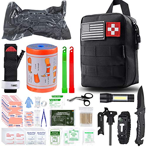 SUPOLOGY Emergency Survival First Aid Kit,135-In-1 Trauma Kit with Tourniquet 36