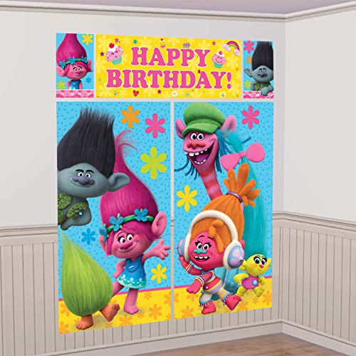 TROLLS The Movie Scene Setter Photo Backdrop Poster Birthday Party Supplies