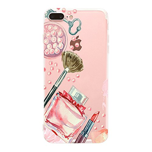 AIsoar Pappagallo Style - Cover iPhone 8 Plus Silicone Custodia Protettiva per iPhone 7 Plus 8 Plus, Cover Pappagallo Custodia Ultra Slim Transparent Trasparente Antiurto (Paesaggio)