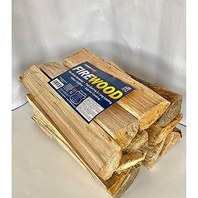 Timbertote 0.75 Cubic Feet Natural Hardwood Mix Fire Log Firewood Bundle for Fireplaces, Campfires, & Firepits