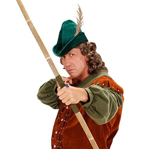 NET TOYS Robin Hood Hut Spitzhut grün Robin Hood Kappe Bogenschütze Mütze Mittelalter Hut Kostüm Zubehör