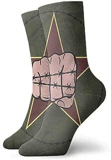 Pattern Socks,Socks Barbed Wire Struggle Themed Fist