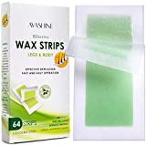 Avashine Body Wax Strips, Waxing Kit Contains 64 Strips