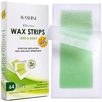 Avashine Body Wax Strips Waxing Kit Contains 64 Strips