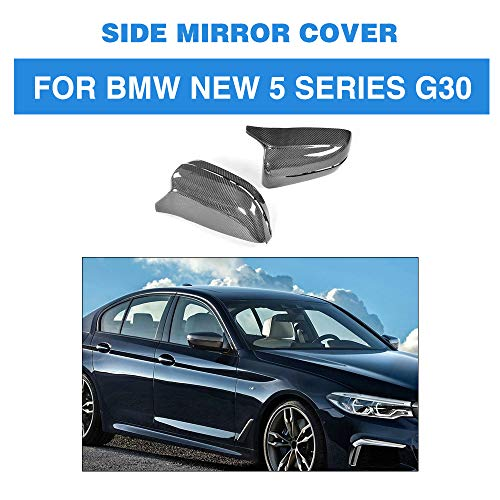 ZHAOHAOSC Direkter Ersatz Carbon Spiegelabdeckkappen, für BMW 5er G30 Standard Limousine 4 Türer 2018 530e
